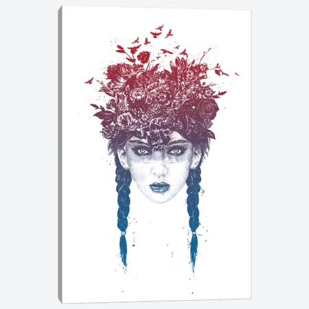 Summer Queen Canvas Print #BSI153} by Balazs Solti Canvas Art
