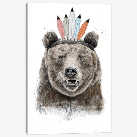 Festival Bear Canvas Print #BSI167} by Balazs Solti Canvas Artwork