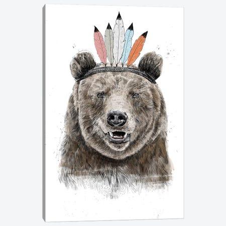 Festival Bear Canvas Print #BSI167} by Balazs Solti Canvas Artwork