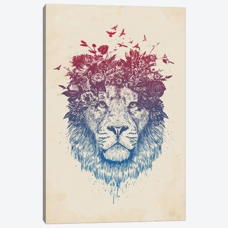Floral Lion III Canvas Print #BSI169} by Balazs Solti Canvas Art Print
