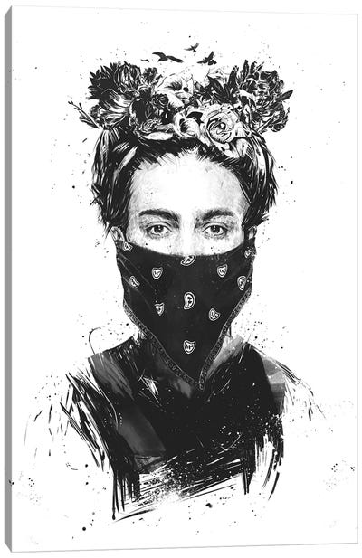 Rebel Girl Canvas Art Print