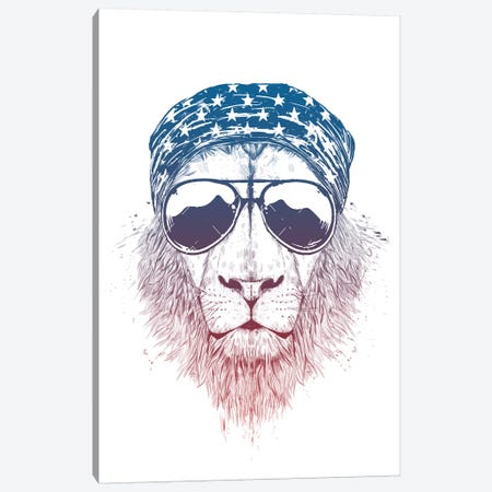 Wild Lionv Canvas Print #BSI187} by Balazs Solti Canvas Artwork