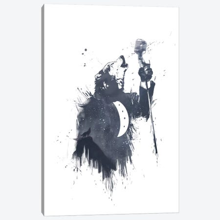 Wolf Song II Canvas Print #BSI18} by Balazs Solti Canvas Art
