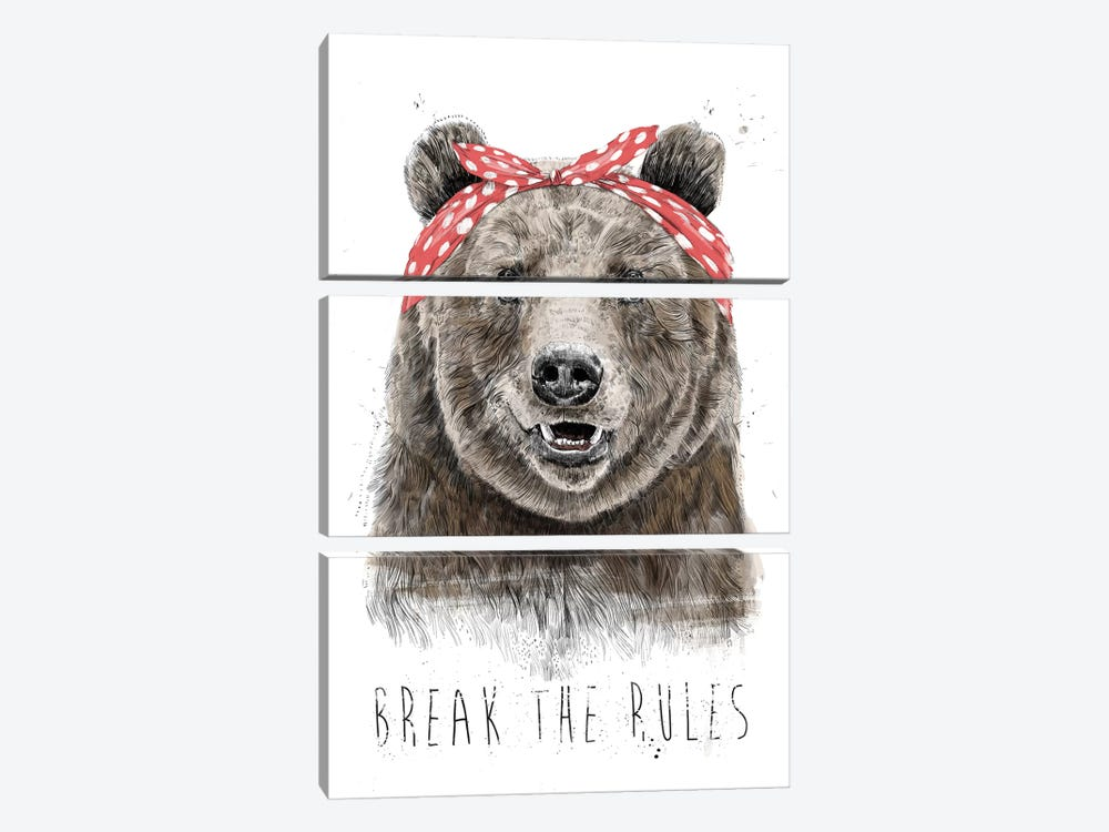 Break The Rules (In Color) by Balazs Solti 3-piece Canvas Art Print