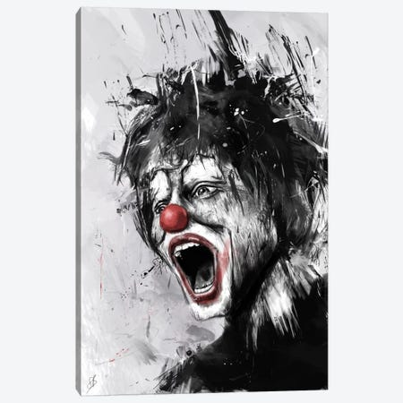The Clown Canvas Print #BSI1} by Balazs Solti Canvas Art