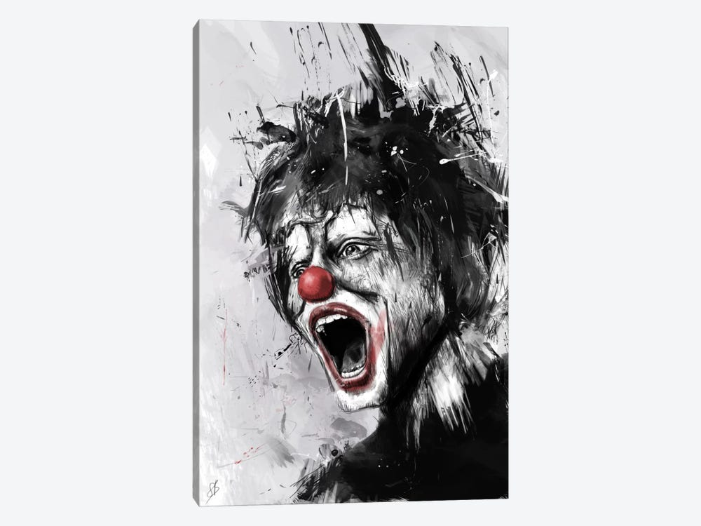 The Clown by Balazs Solti 1-piece Canvas Wall Art