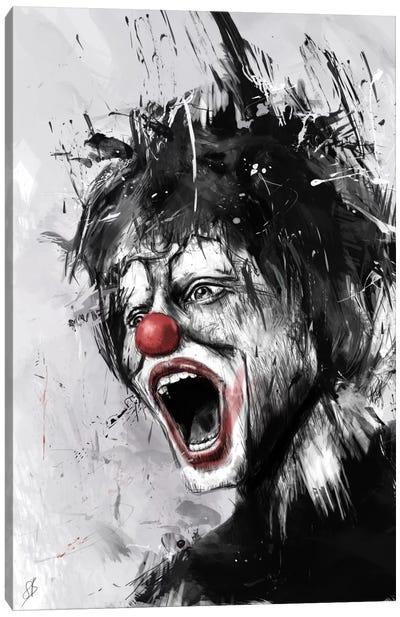 The Clown Canvas Art Print