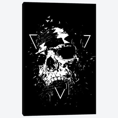 Skull X In Black And White Canvas Print #BSI201} by Balazs Solti Canvas Wall Art