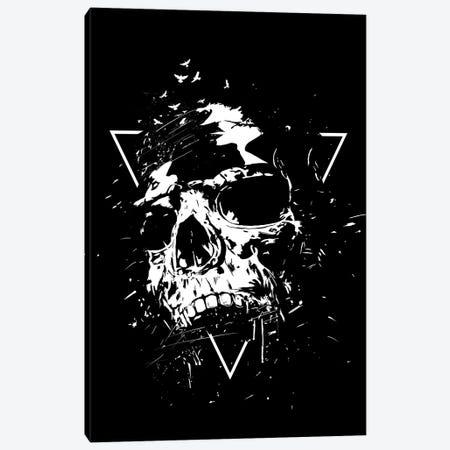 Skull X (Black And White) Canvas Print #BSI207} by Balazs Solti Art Print
