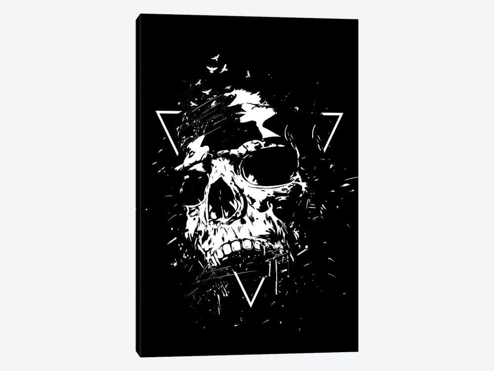 Skull X (Black And White) by Balazs Solti 1-piece Canvas Art