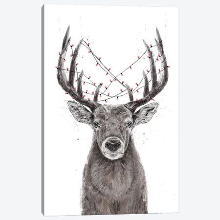 Xmas Deer Canvas Print #BSI209} by Balazs Solti Canvas Art