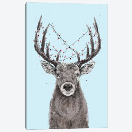 Xmas Deer II Canvas Print #BSI210} by Balazs Solti Canvas Print