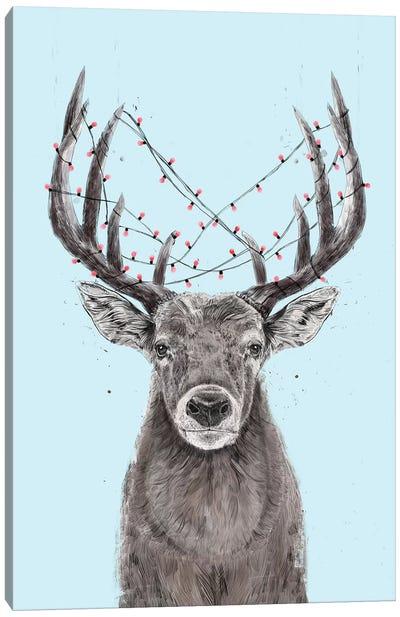 Xmas Deer II Canvas Art Print