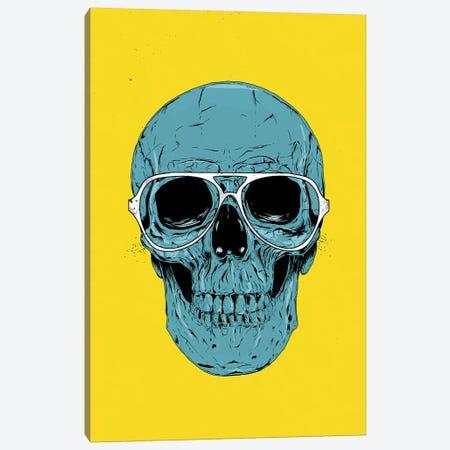 Blue Skull Canvas Print #BSI217} by Balazs Solti Canvas Art