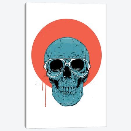 Blue skull II Canvas Print #BSI218} by Balazs Solti Canvas Art Print