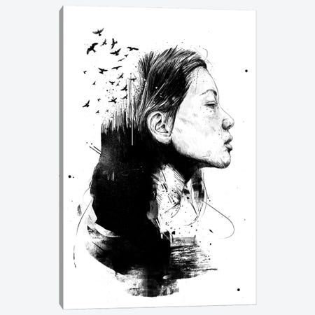 Open Your Mind Black And White Canvas Print #BSI220} by Balazs Solti Canvas Artwork