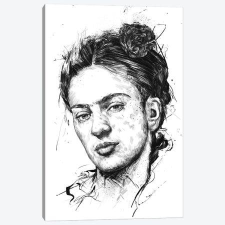 Frida Canvas Print #BSI226} by Balazs Solti Art Print