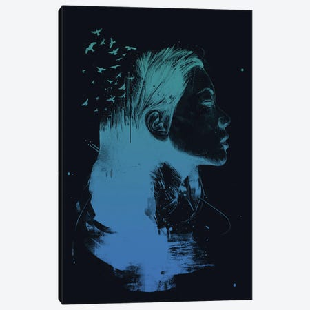 Open Your Mind (Dark) Canvas Print #BSI228} by Balazs Solti Canvas Art