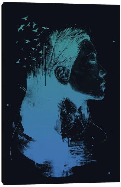 Open Your Mind (Dark) Canvas Art Print