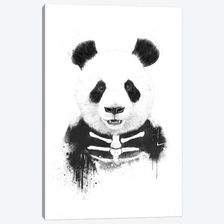 Zombie Panda Canvas Print #BSI22} by Balazs Solti Canvas Print
