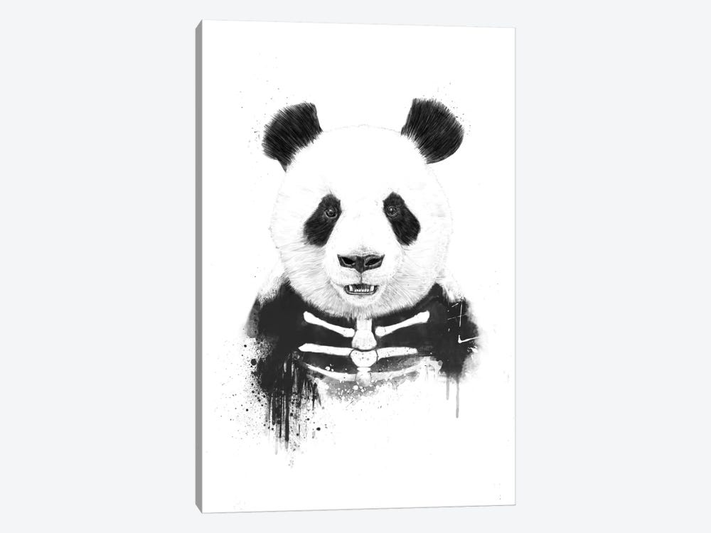Zombie Panda by Balazs Solti 1-piece Canvas Wall Art