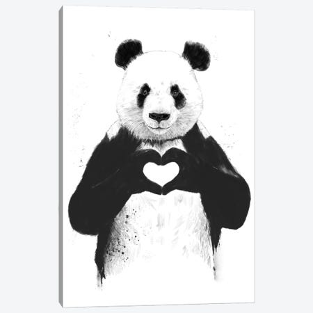 All You Need Is Love Canvas Print #BSI24} by Balazs Solti Canvas Art