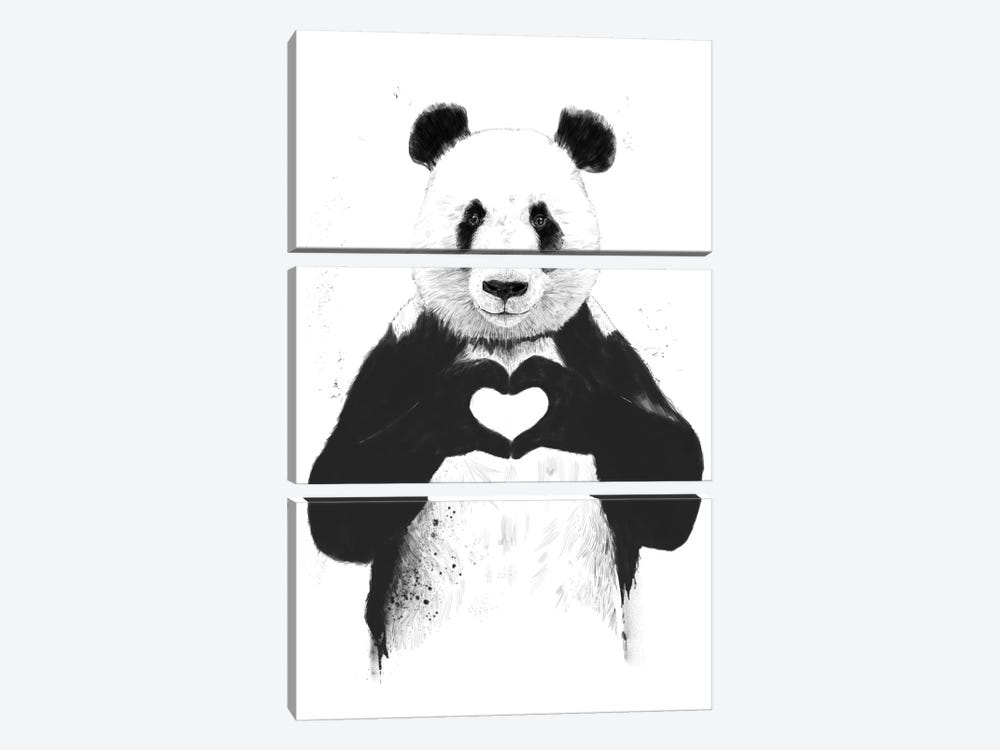 All You Need Is Love by Balazs Solti 3-piece Canvas Wall Art
