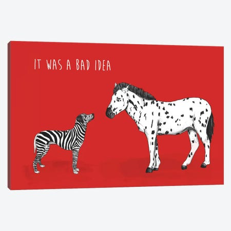 Bad Idea Canvas Print #BSI27} by Balazs Solti Canvas Art