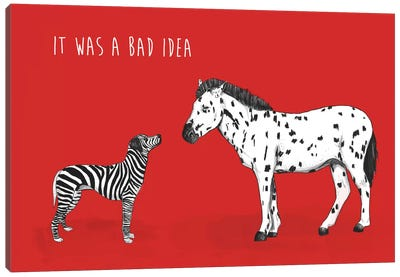Bad Idea Canvas Art Print