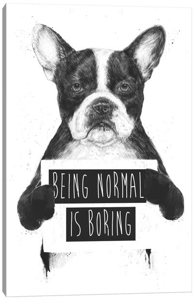 Being Normal Is Boring Canvas Print #BSI33