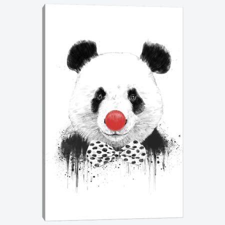 Clown Panda Canvas Print #BSI39} by Balazs Solti Canvas Art