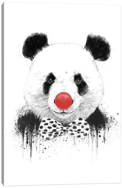 Clown Panda Canvas Art Print