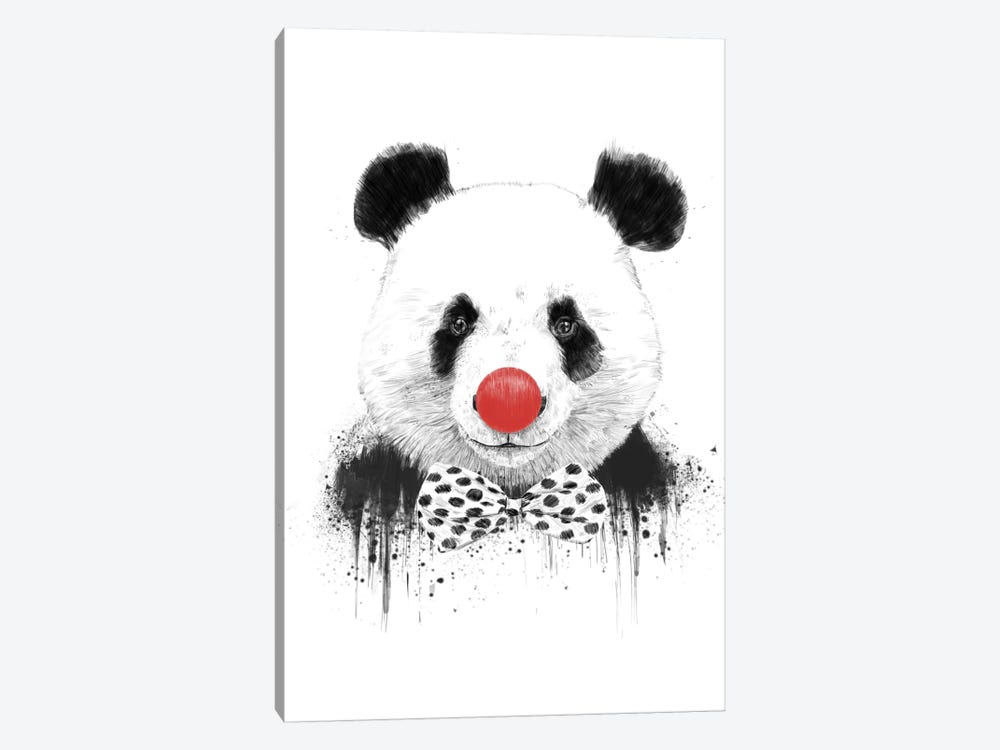 Clown Panda by Balazs Solti 1-piece Canvas Artwork