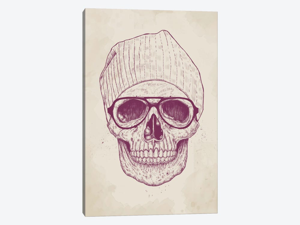 Cool Skull by Balazs Solti 1-piece Canvas Art Print
