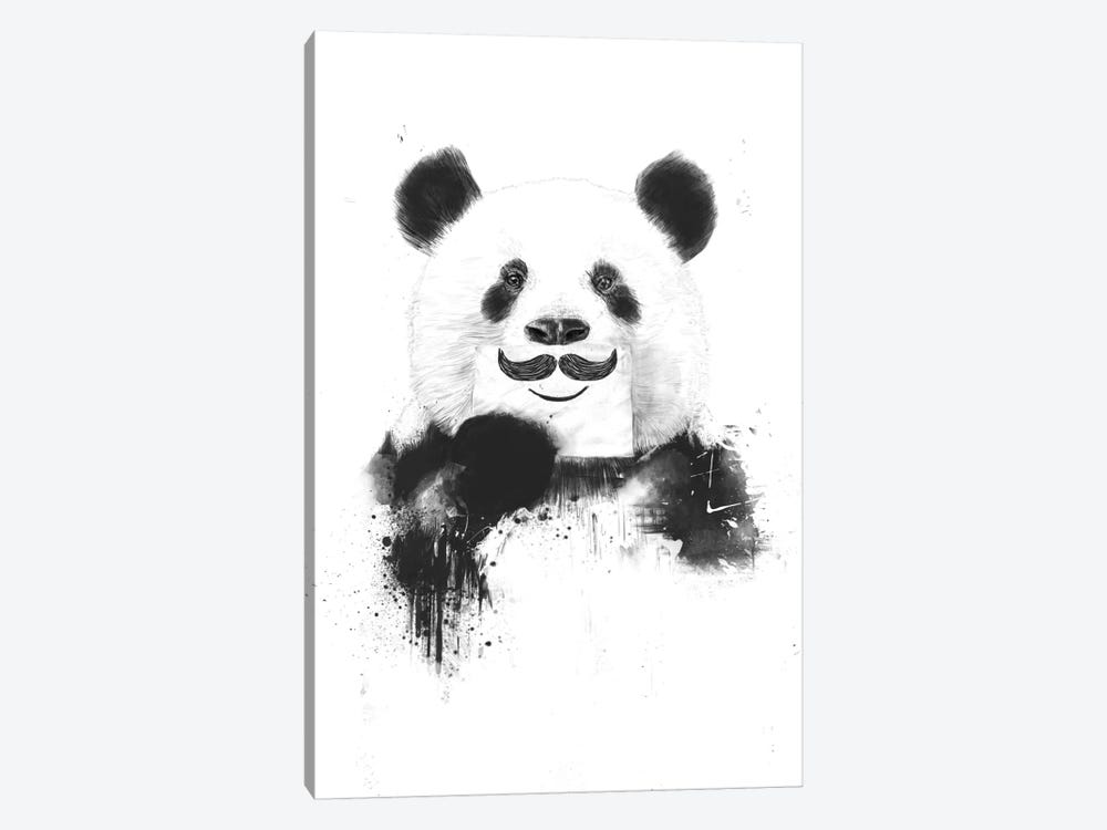 Funny Panda by Balazs Solti 1-piece Canvas Artwork