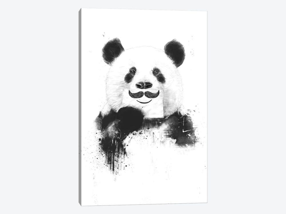Funny Panda by Balazs Solti 1-piece Canvas Artwork