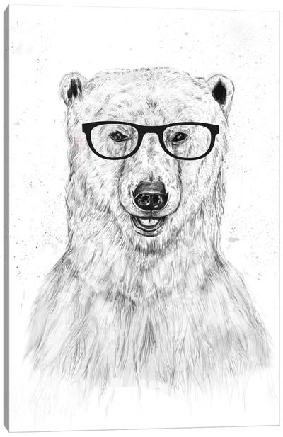 Geek Bear Canvas Art Print