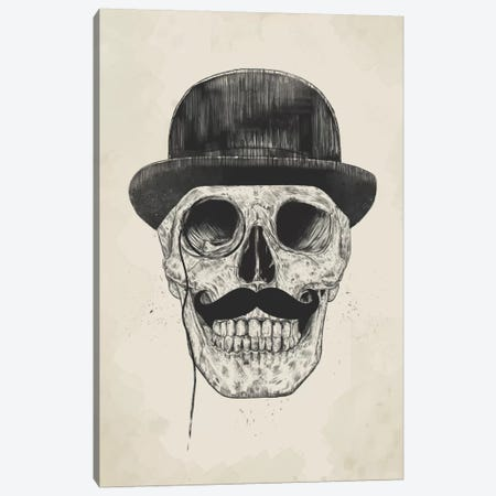 Gentlemen Never Die Canvas Print #BSI57} by Balazs Solti Art Print