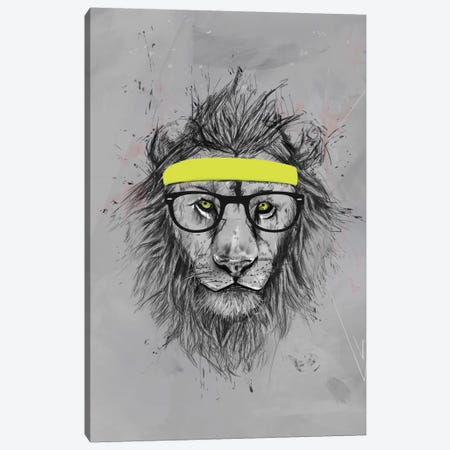 Hipster Lion Canvas Print #BSI63} by Balazs Solti Canvas Art Print