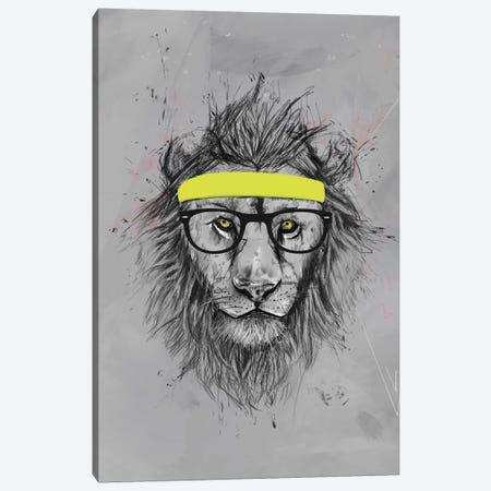 Hipster Lion Canvas Print #BSI63} by Balazs Solti Canvas Art Print