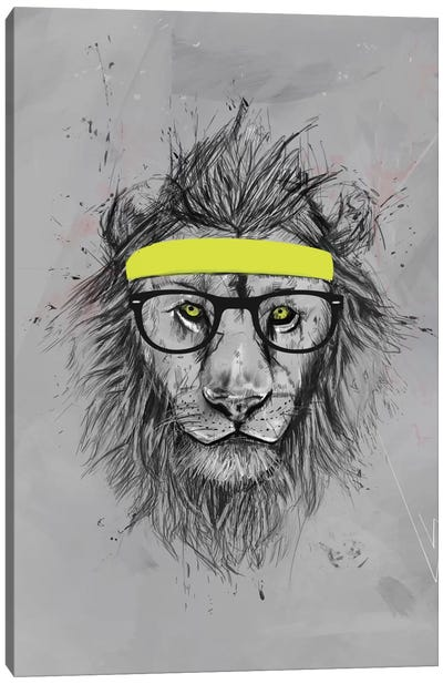 Hipster Lion Canvas Art Print