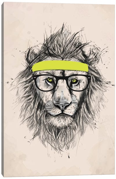 Hipster Lion (Light Version) Canvas Art Print