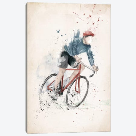 I Want To Ride My Bicycle Canvas Print #BSI67} by Balazs Solti Canvas Artwork