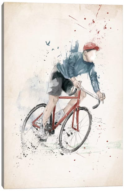 I Want To Ride My Bicycle Canvas Print #BSI67