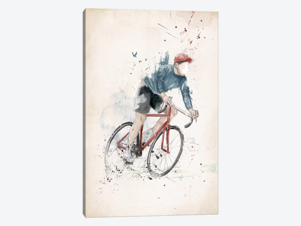 I Want To Ride My Bicycle by Balazs Solti 1-piece Canvas Print