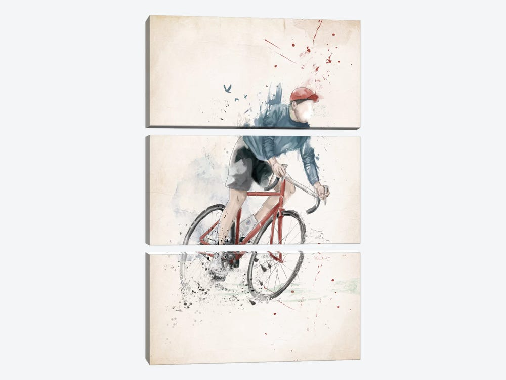 I Want To Ride My Bicycle by Balazs Solti 3-piece Art Print