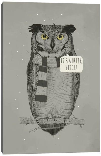It's Winter, Bitch! Canvas Art Print