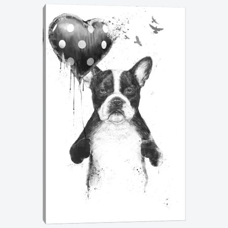 My Heart Goes Boom 3-Piece Canvas #BSI78} by Balazs Solti Canvas Artwork