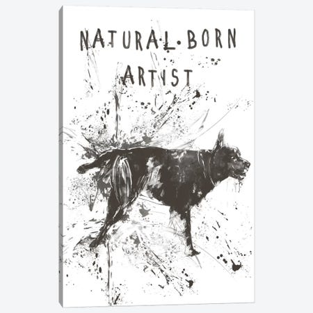 Natural Born Artist Canvas Print #BSI79} by Balazs Solti Canvas Wall Art