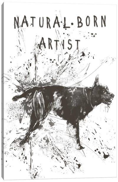 Natural Born Artist Canvas Print #BSI79